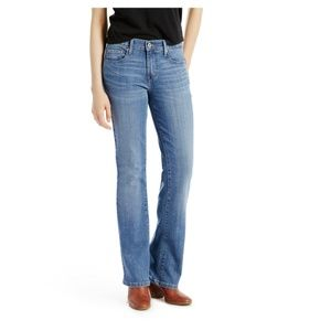 Levi's Bootcut 515 Mid Rise Straight Leg Jeans 10L